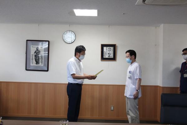 病院長表彰 感染制御部・PCR検査①