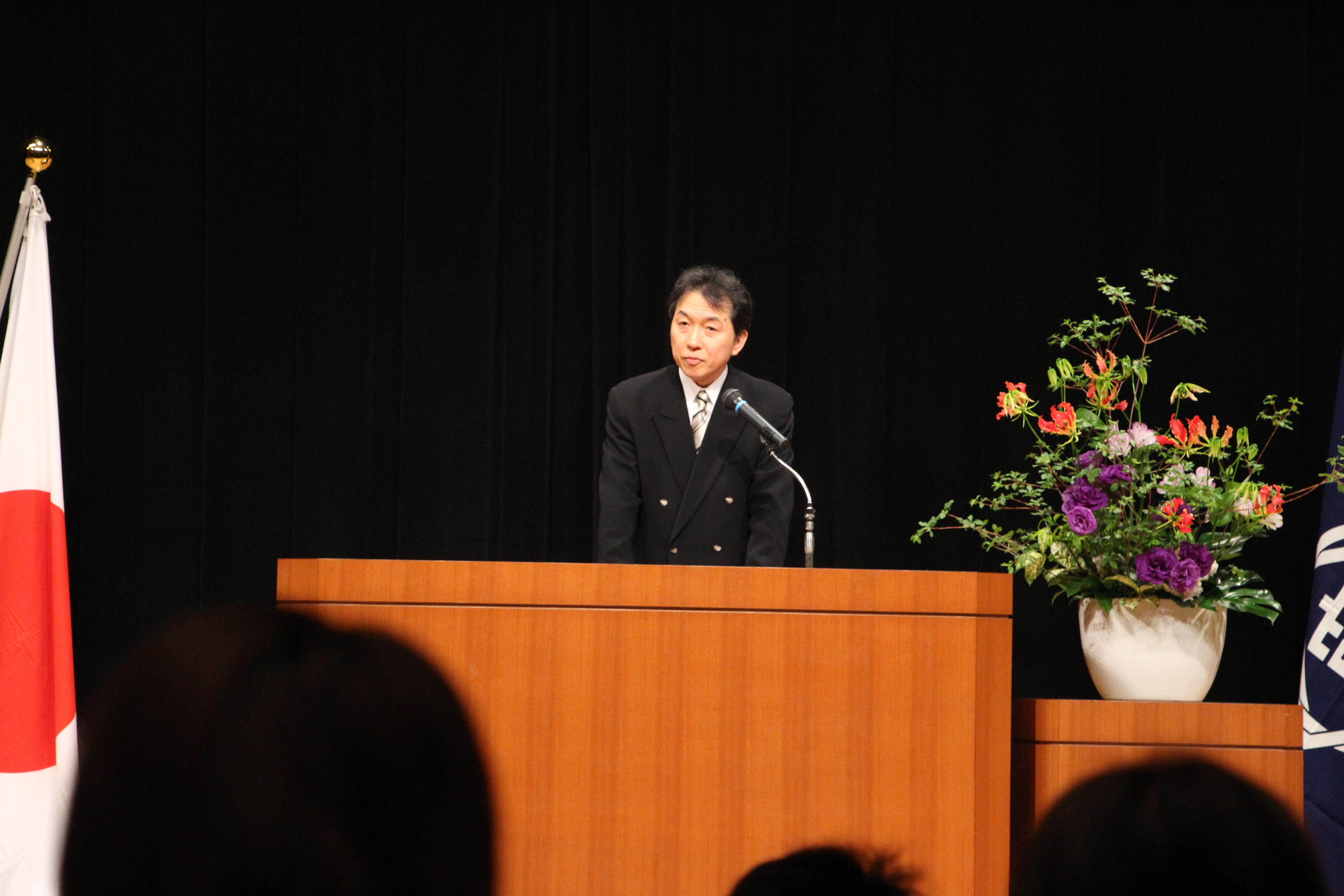 平成30年度開講式(山本副病院長挨拶)