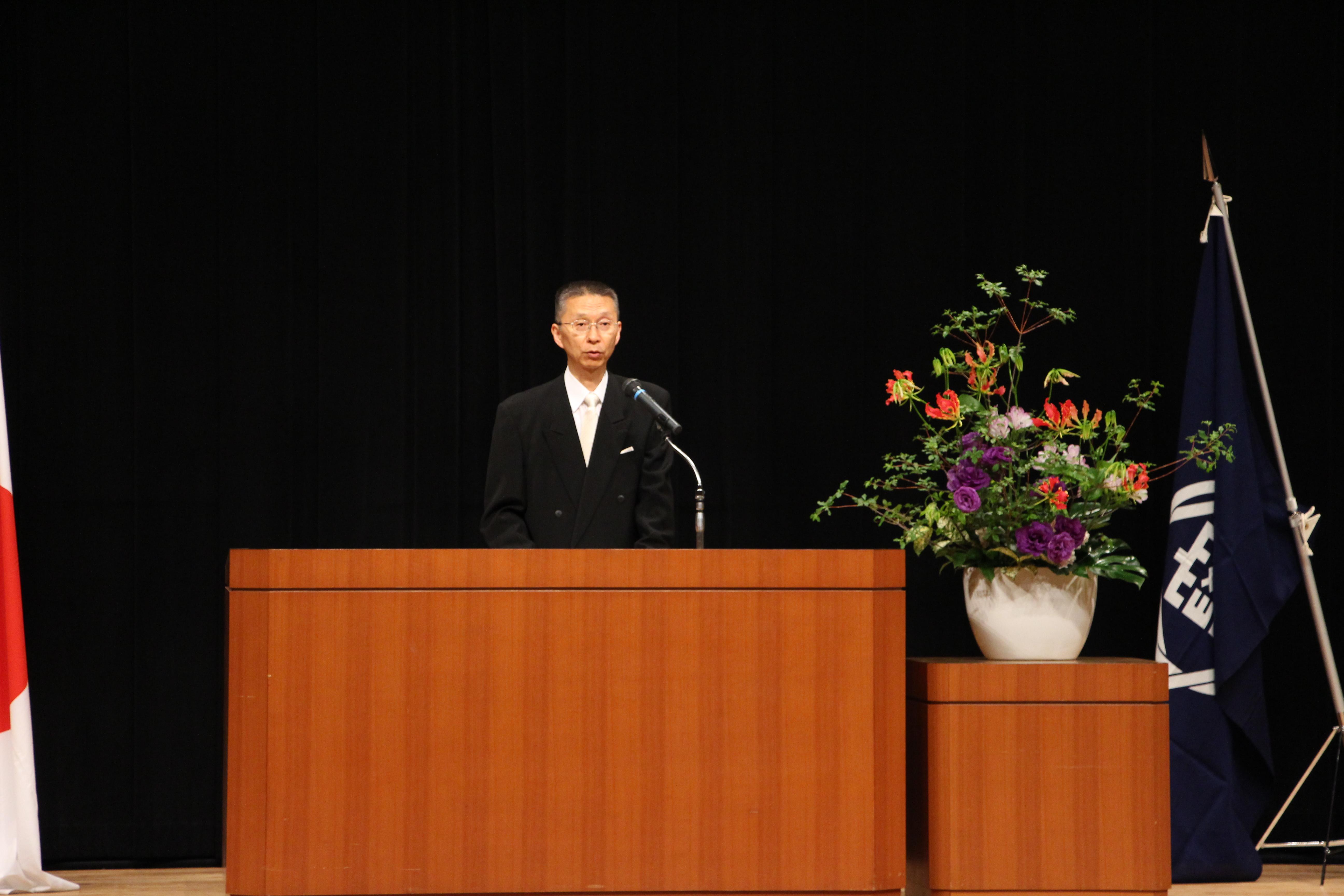 開講式花木先生挨拶
